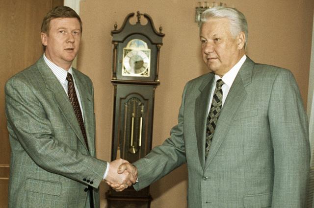 Ранний склероз Чубайса. Главный попильщик «Роснано» переписывает историю президентских выборов 1996 года.