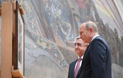 Путин передал Саргсяну похищенную в Ереване 22 года назад картину Врубеля