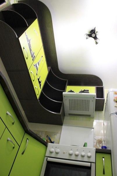 Ремонт и дизайн маленькой угловой кухни 5 кв.м.