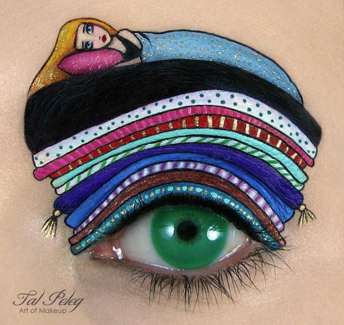 Макияж как искусство: глаза-картины от Тал Пелег (Tal Peleg)