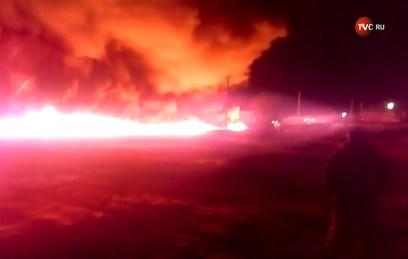 В Саратовской области загорелся нефтепровод