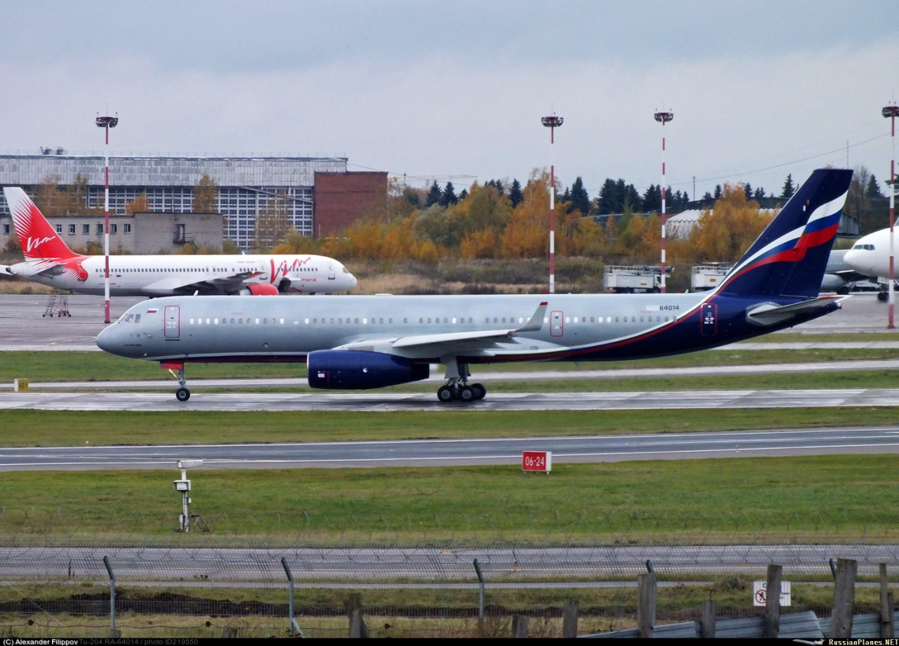 Восстановлен самолет Ту-204-100В