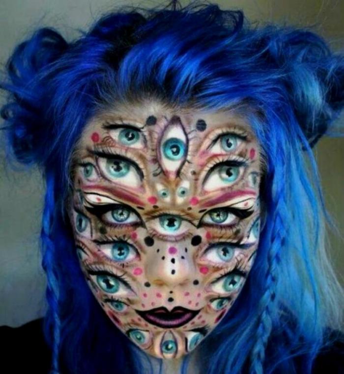 Примеры жуткого макияжа от талантливых визажистов