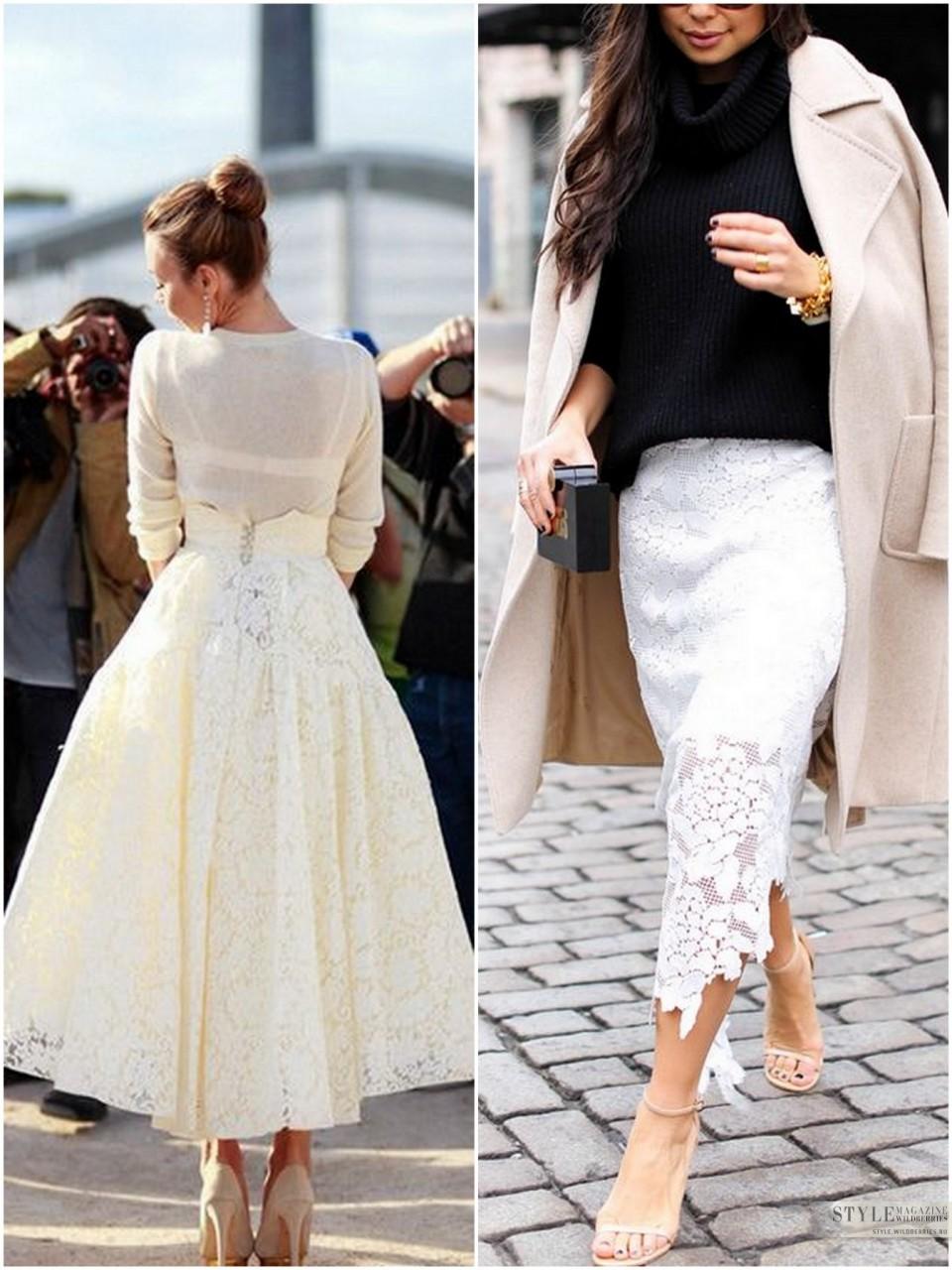 Выбираем кружевные юбки!