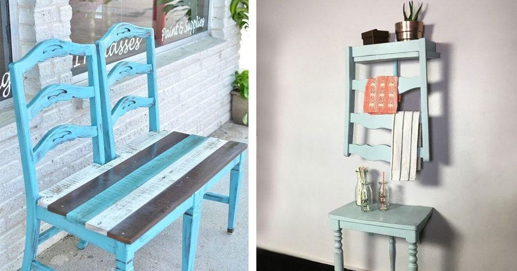 Полезные вещицы для дома и сада из старых стульев
