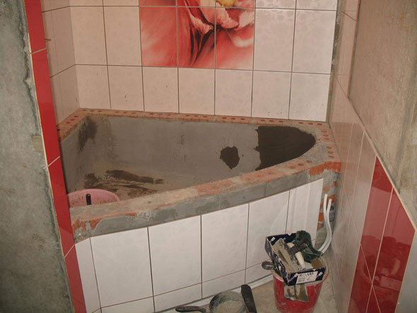 Ванная из кирпича своими руками