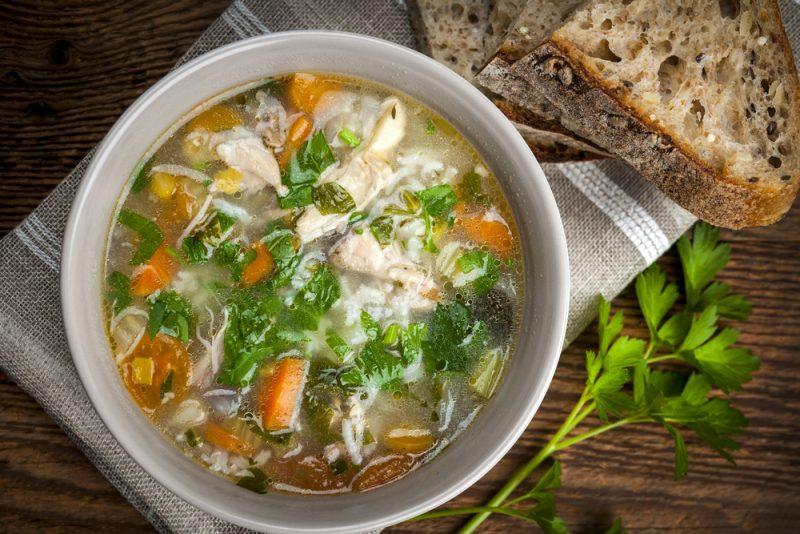 Диетический рисовый суп: рецепт с фото пошагово