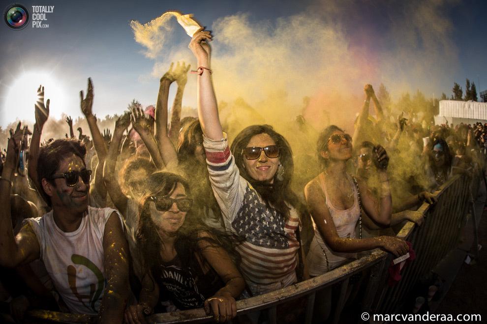 фестиваль Холи в Мексике