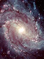 Спиральная Галактика M83 (фото Хаббла)