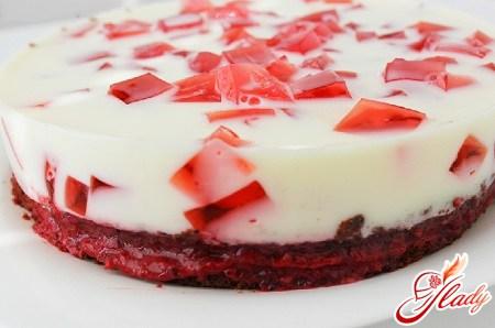 Торт желейный с бисквитом: радость каждый день