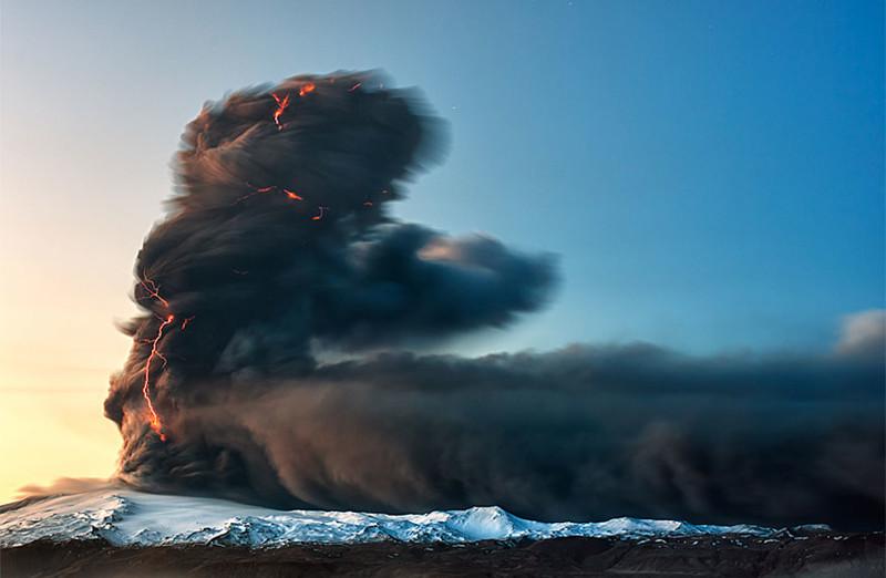 21. Извержение Эйяфьядлайёкюдля, 2010 год виды, исландия, красота, фото