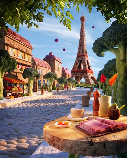 amazing foodscapes 8 Пейзажи из еды