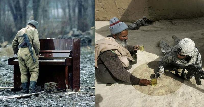 15 фотографий о проявлении человечности в военное время