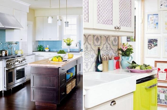 18 ярких и необычных кухонных фартуков, которые преобразят любую кухню