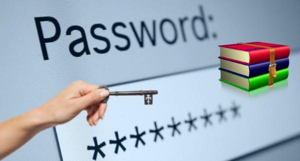 Как добавить пароль на уже существующий архив