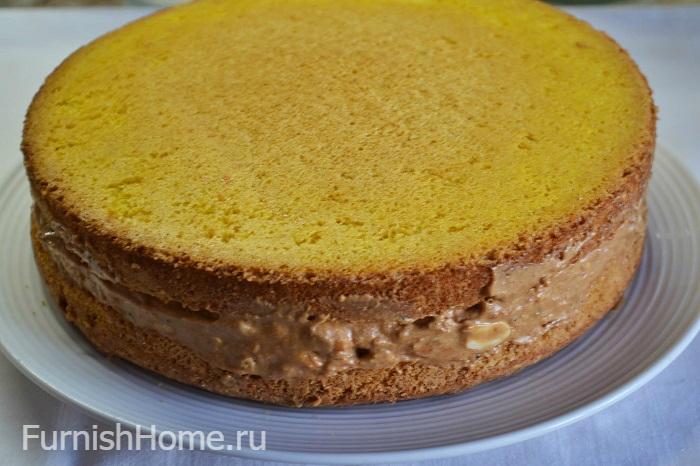 Домашний торт «Сникерс»