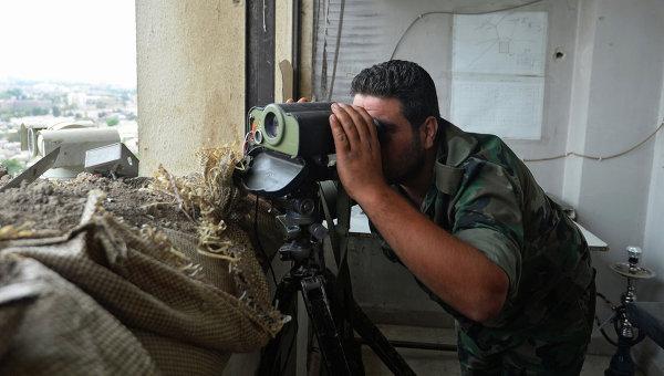 Сирийские военнослужащие обн…