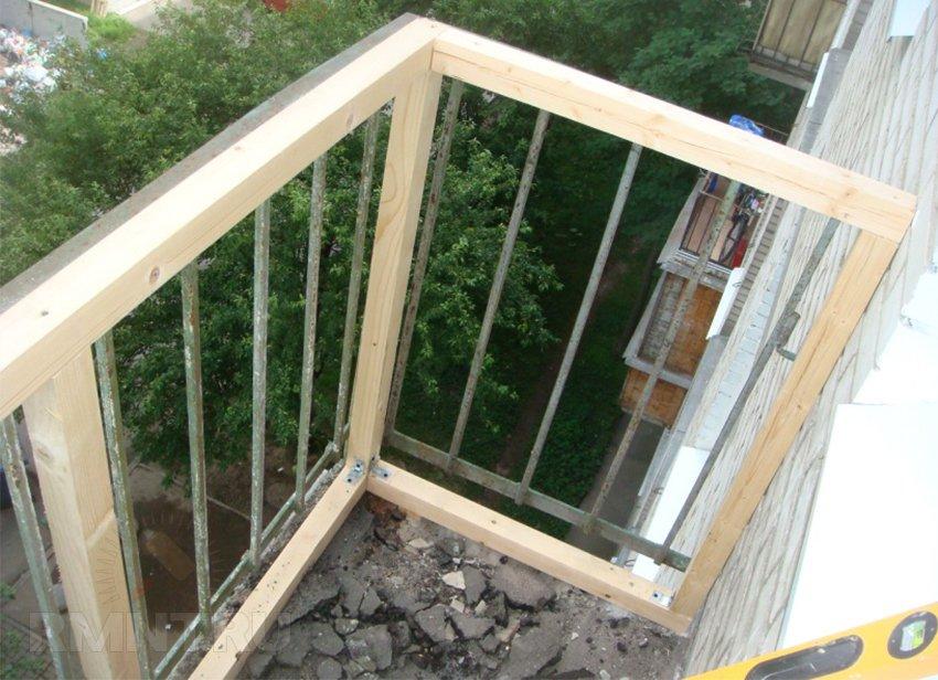 Как сделать обрешетку на балкон
