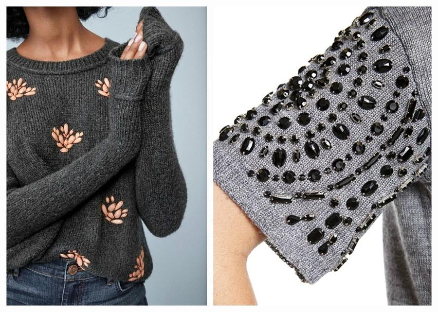 Украшаем свитер вышивкой — 7 эффектных идей для вашего вдохновения