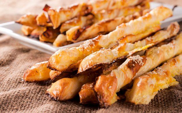 Косички с курицей и сыром
