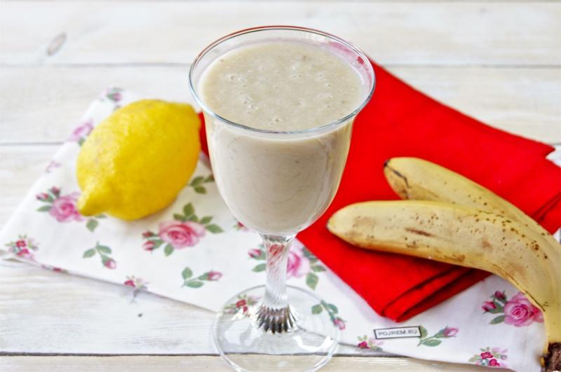 Банановый коктейль рецепт с фото