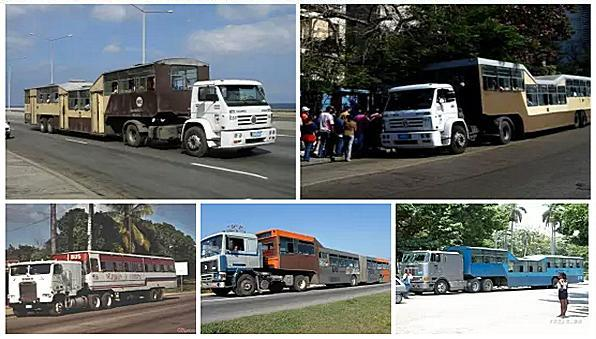 Самодельные автобусы из Кубы