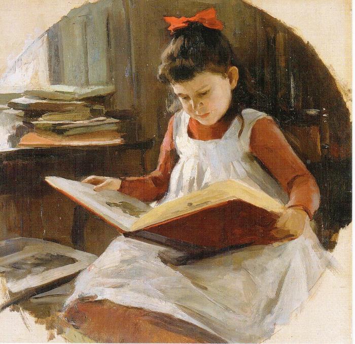 Пимоненко Портрет дочери художника Раисы конец 1890-х (700x677, 94Kb)