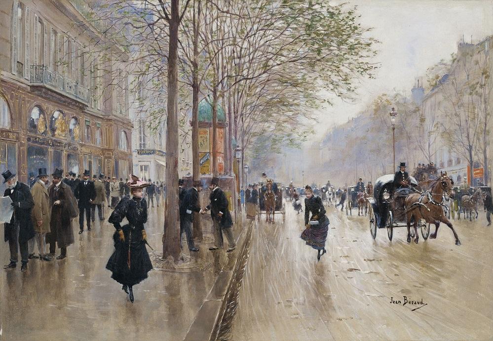 Аукционное в коллекцию... Jean Beraud (France, 1848-1935)... Belle Epoque в Париже