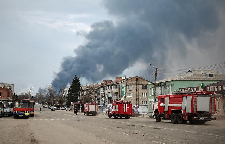 Пожар на военном складе в Балаклее возник после генеральской пьянки