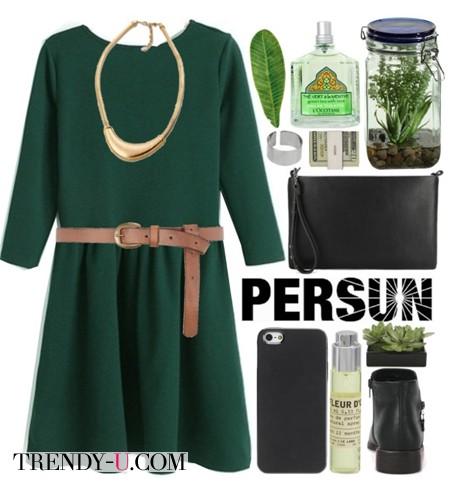 Украшение под зеленое платье
