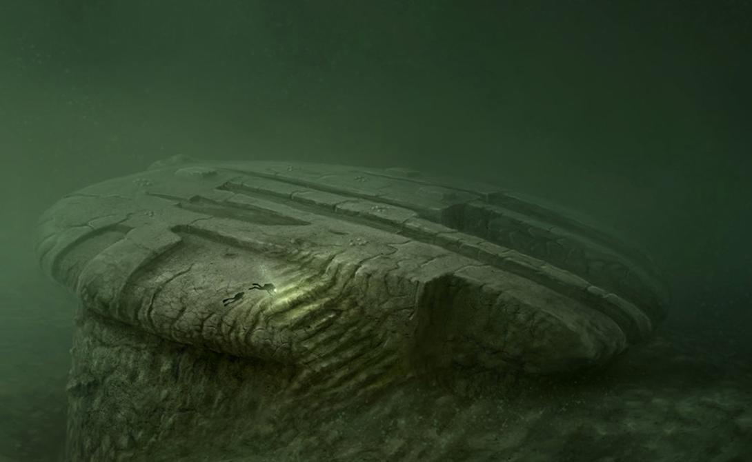 Водолазы смогли поднять на поверхность образец материала. Геолог команды, Стив Вайнер, после тщательного обследования исключил возможность того, что это естественное геологическое образование.