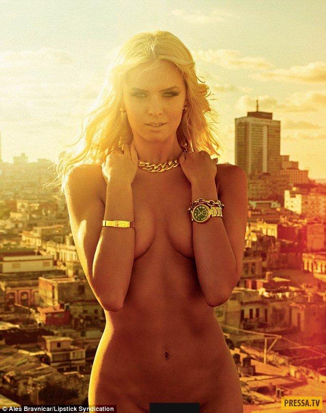 Танцовщица Надя Бычкова снялась обнаженной для Playboy (8 фото)