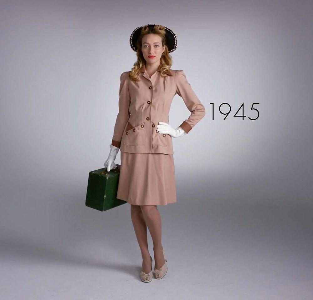 100 лет моды за 2 минуты