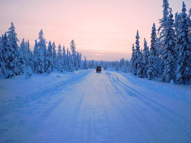Зимник Салехард — Надым очень красив в хорошую погоду. авантюра, интересное, путешествие