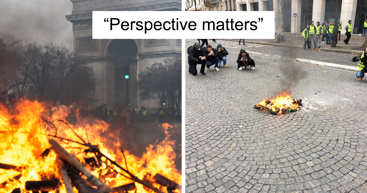 Someone Shows How Paris Protest Fire 'Actually Looked', Gets Called Out By AFPFactCheck