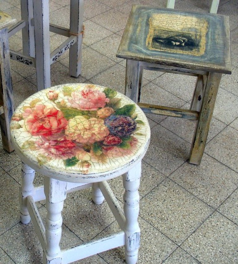 браширование стула и декупаж пошаговая инструкция