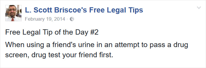 Lawyer Posts Hilarious Legal Tips Based On Things That Actually Happened During His 19 Year Practice