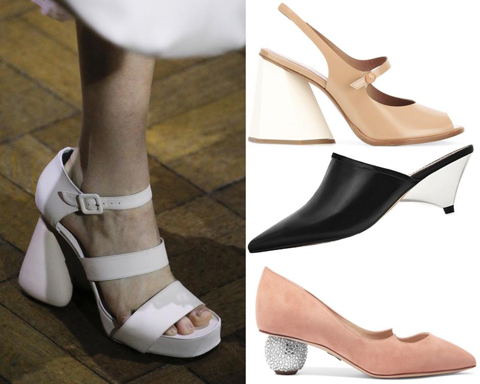 Тенденция: необычные каблуки