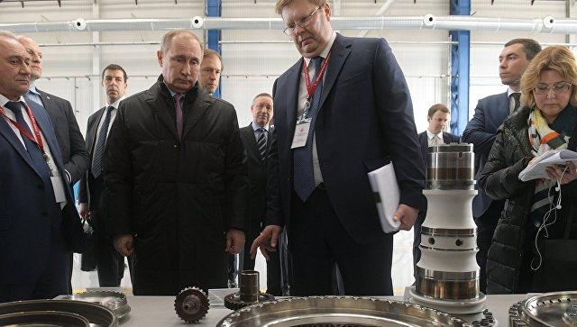 Путин дал старт производству корабельных газотурбинных двигателей