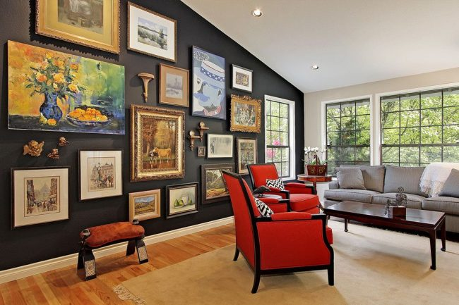 Рамки для фотографий на стену: коллажи для интерьера и избранные решения по композиции