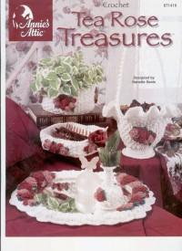 Tea treasure rose (вязание крючком)
