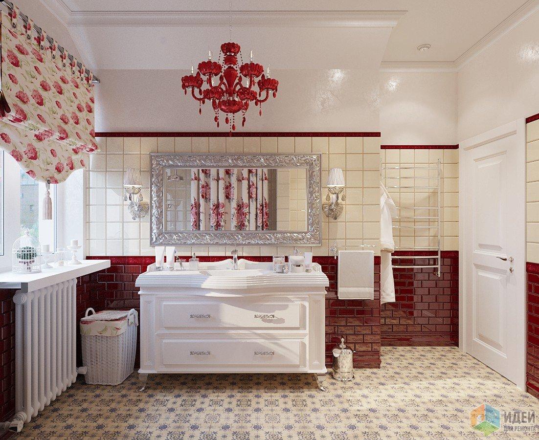 Прованс с «огоньком» в ванной и душевой
