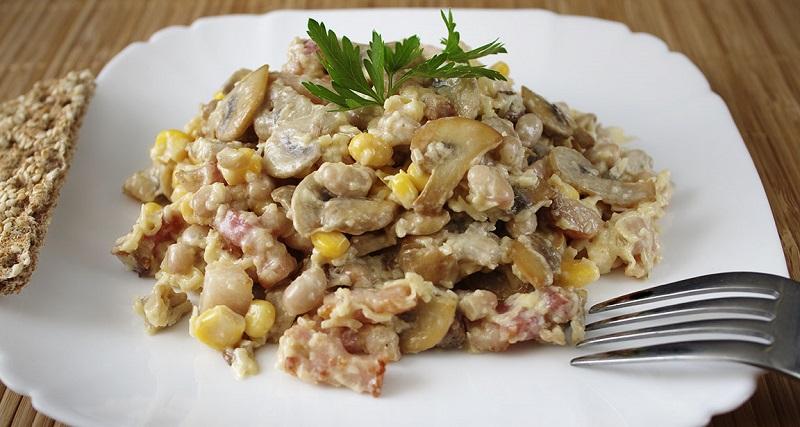 как приготовить салат с грибами и сыром
