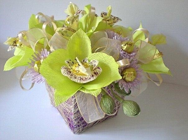 букет из волшебных орхидей