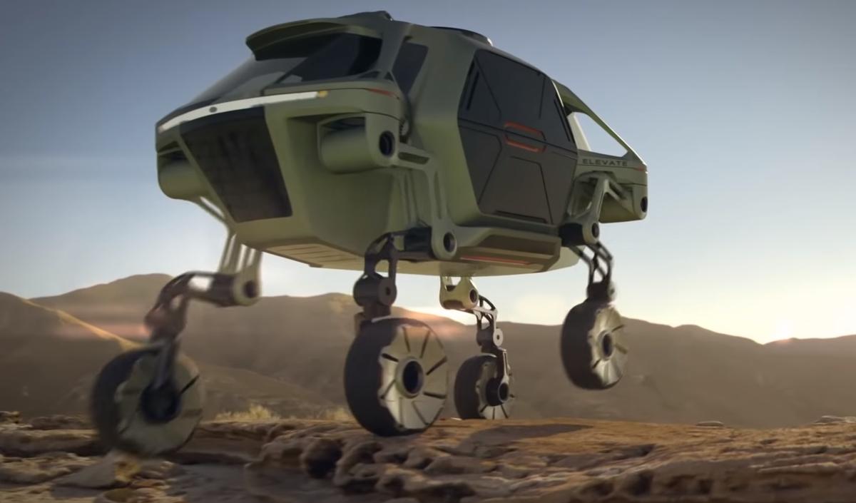 Hyundai разработала шагающий робомобиль