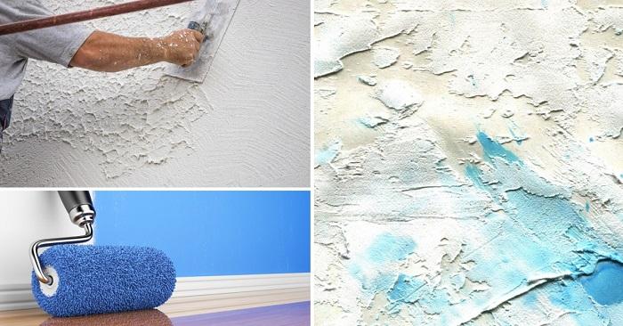 Как сделать фактурный валик для отделки стен