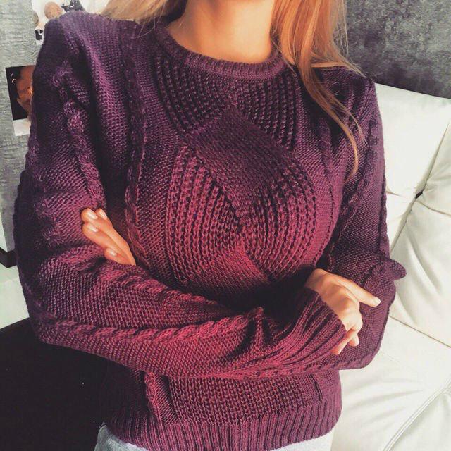 Узоры вязания свитера женского 213