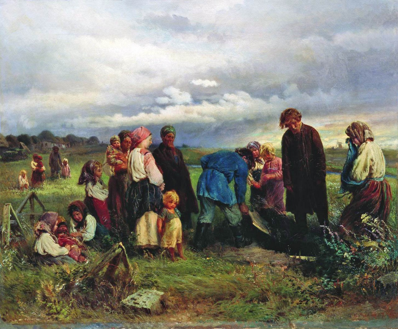 МаковÑкий К.. Похороны ребенка. 1872