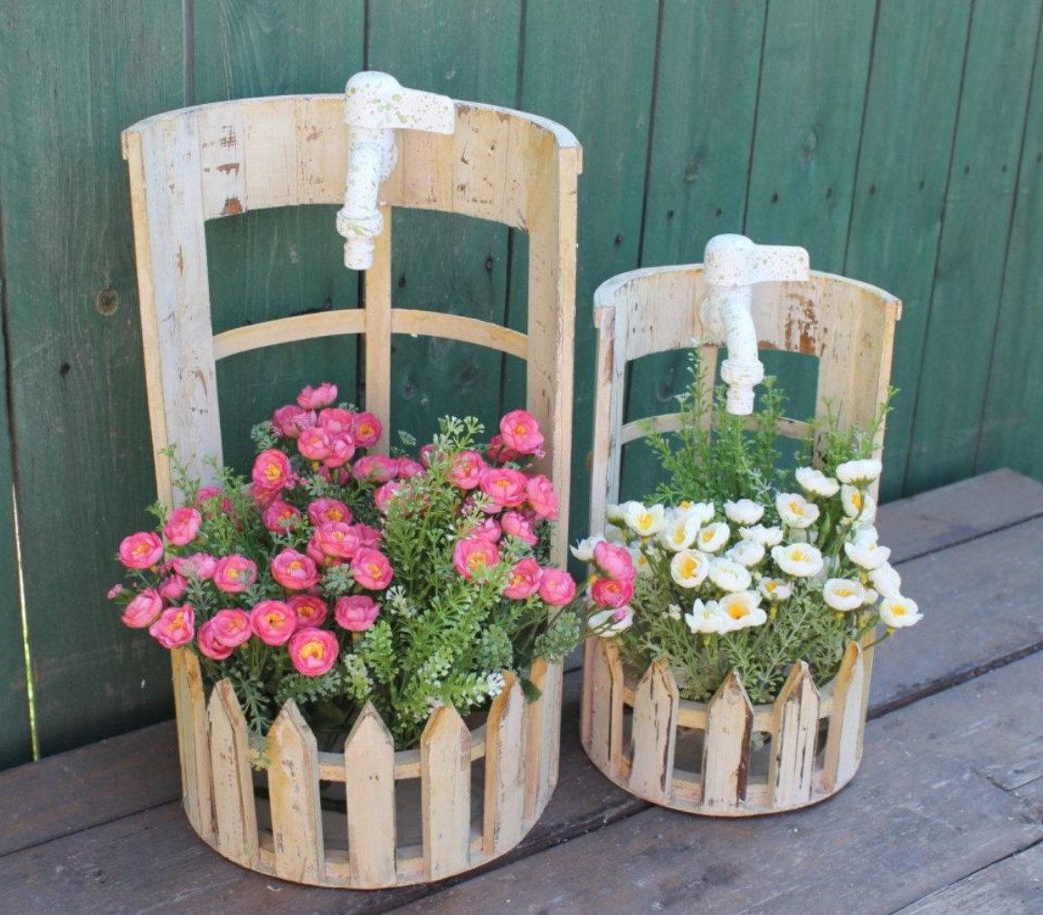 Вазоны горшки для цветов из дерева своими руками фото
