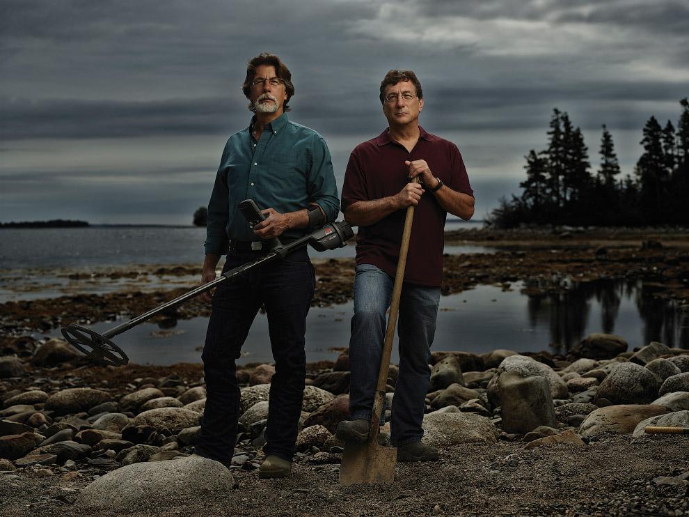 Братья-кладоискатели Рик и Марти Лагина на Острове Оук